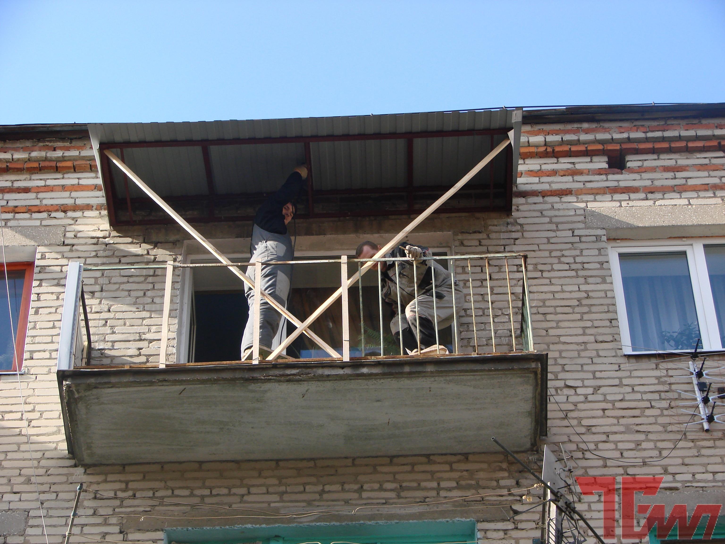 Крыша балкона на последнем этаже - всё о балконе.
